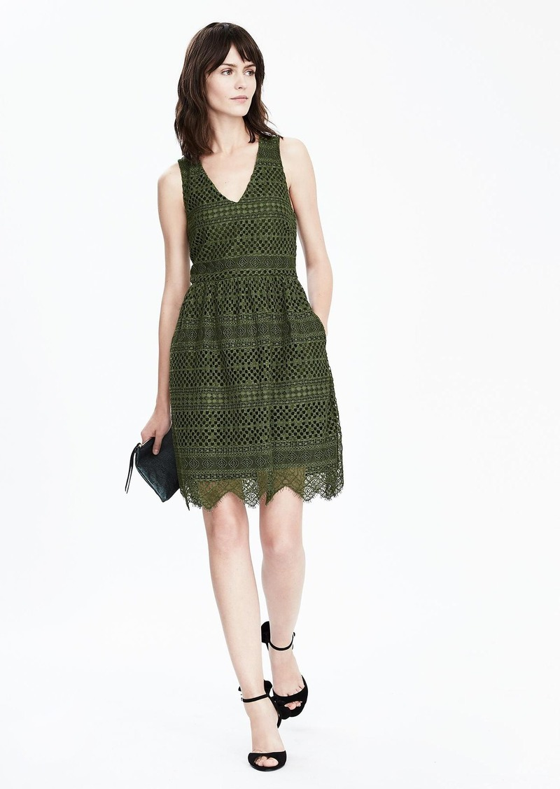 Banana Republic Lace Shift Dress