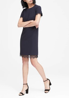 Banana Republic Lace-Trim Shift Dress