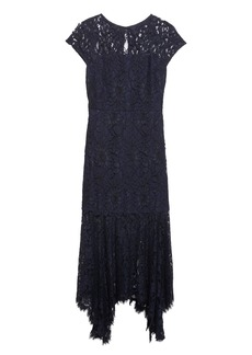 Banana Republic Lace Trumpet Midi Dress