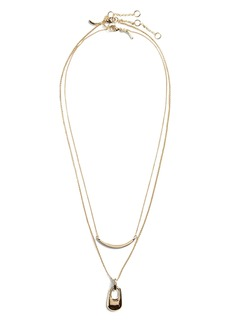 Banana Republic Layered Zipper Necklace