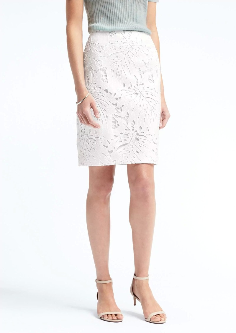 banana republic leaf lace pencil skirt skirts shop it