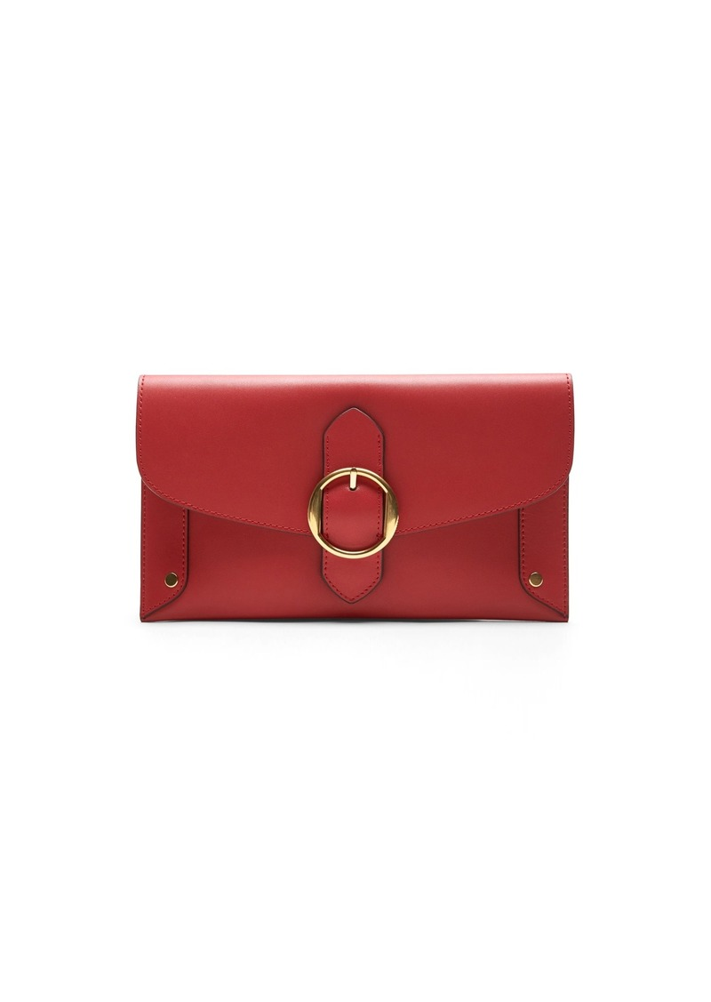 Banana Republic Leather Buckle Clutch