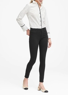 Banana Republic High-Rise Legging-Fit Luxe Sculpt Black Ankle Jean