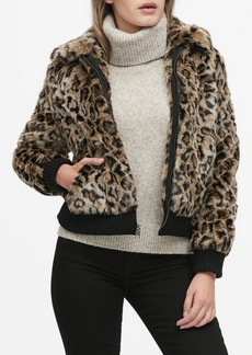 Banana Republic Leopard Faux Fur Jacket