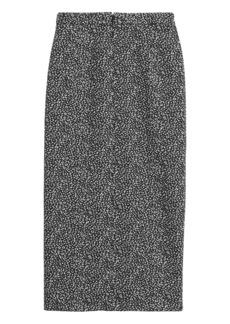 Banana Republic Leopard Jacquard Pencil Skirt