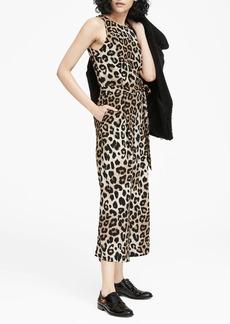 Banana Republic Leopard Print Cropped Wide-Leg Jumpsuit