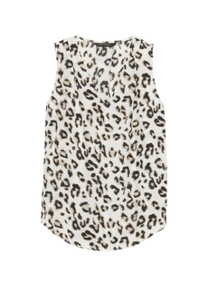 Banana Republic Leopard Print Pleated Drapey Tank