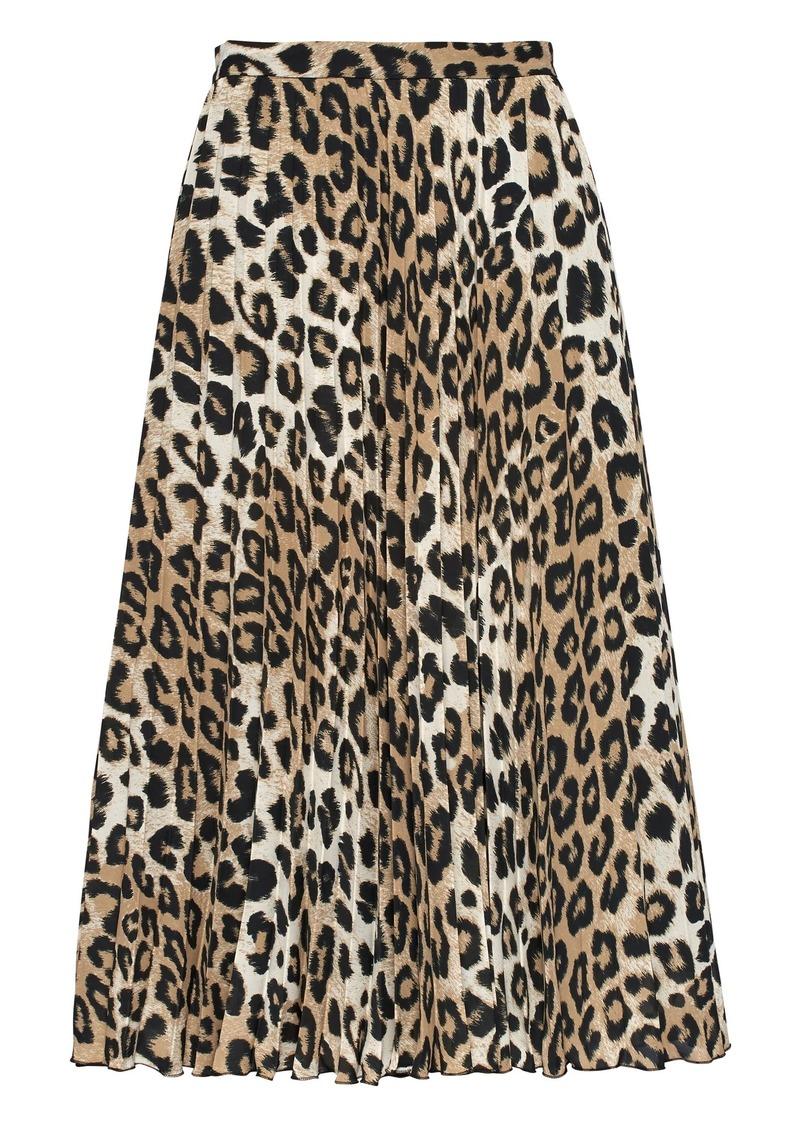 1f45593aa Banana Republic Leopard Print Pleated Midi Skirt | Skirts