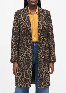 Banana Republic Leopard Print Top Coat