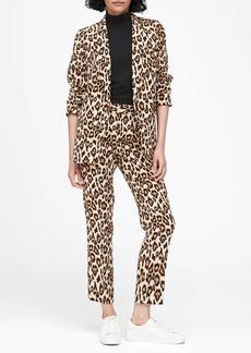 Banana Republic Leopard Soft Blazer
