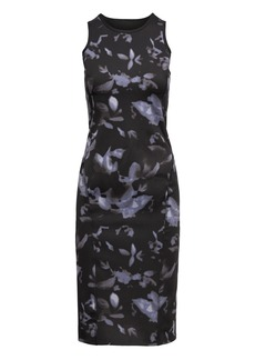 LIFE IN MOTION Reversible Floral Neoprene Pencil Dress