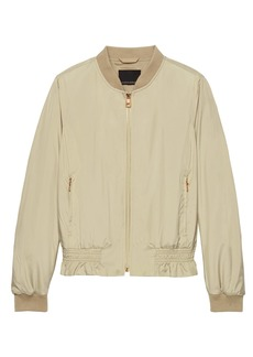 LIFE IN MOTION Water-Resistant Satin Bomber