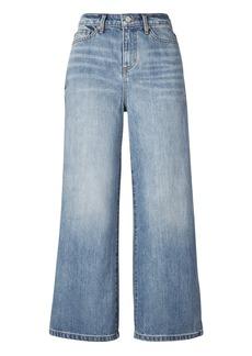 Light Wash High-Rise Wide-Leg Crop Jean
