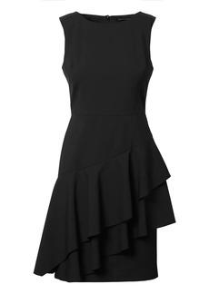 Banana Republic Lightweight Wool Asymmetrical Flounce Dress