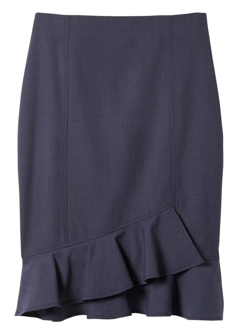 4a55e9061 Banana Republic Lightweight Wool Ruffle-Wrap Hem Pencil Skirt | Skirts