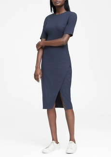 Banana Republic Lightweight Wool Short-Sleeve Sheath Dress