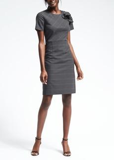Lightweight Wool Shoulder Ruffle Dress