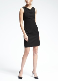 Lightweight Wool Sleeveless Inverted Pleat Dress