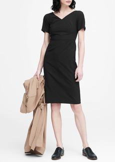 Banana Republic Lightweight Wool V-Back Dress