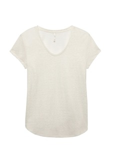 Banana Republic Linen-Blend Scoop-Neck T-Shirt