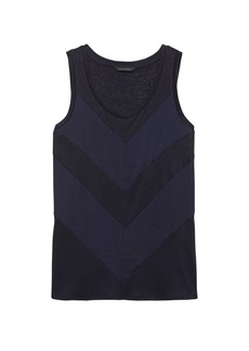 Banana Republic Linen Blend Chevron Tank