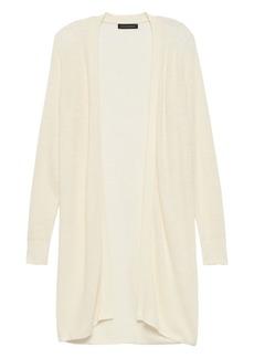 Banana Republic Linen-Blend Long Cardigan Sweater