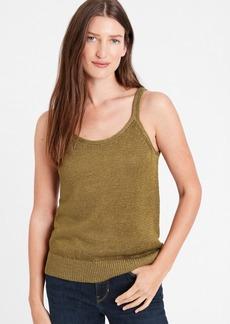 Banana Republic Shimmer Linen-Blend Sweater Tank