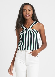 Banana Republic Linen-Blend Twisted Halter Top