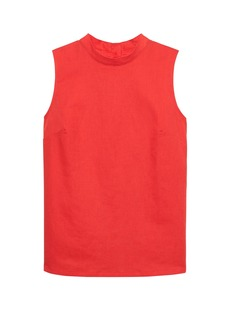 Banana Republic Linen-Cotton Button-Back Tank