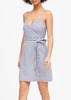 Banana Republic Linen-Cotton Button-Front Mini Dress