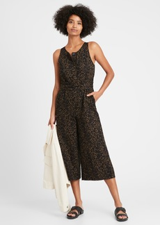 Banana Republic Linen-Cotton Wide-Leg Cropped Jumpsuit