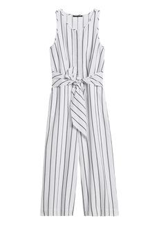 Banana Republic Linen-Cotton Wide-Leg Cropped Jumpsuit