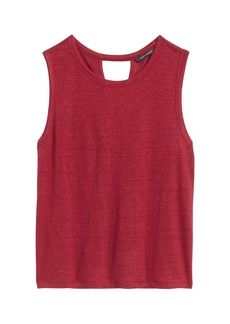 Banana Republic Linen Twist-Back Cropped Tank