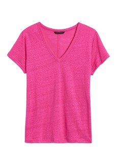 Banana Republic Linen V-Neck T-Shirt