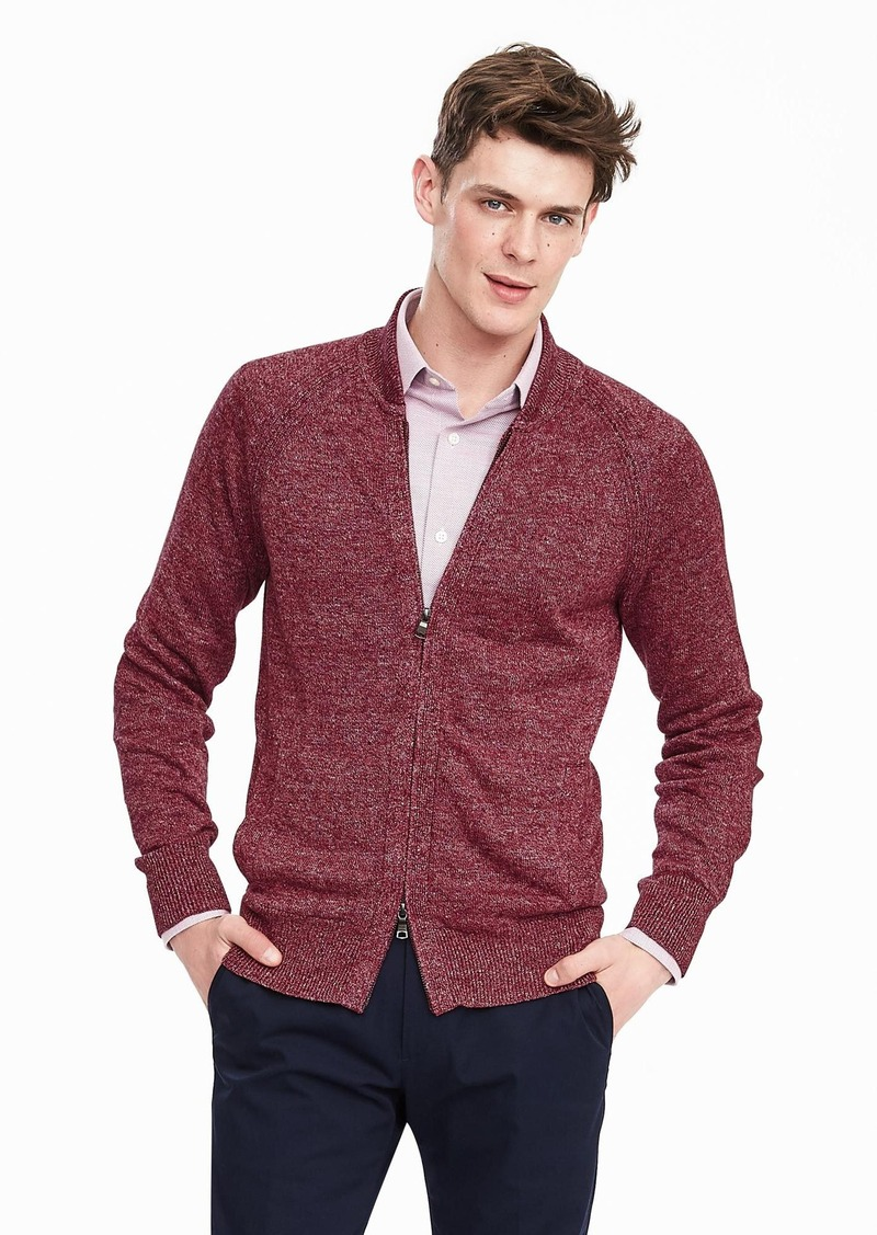 Banana Republic Linen Zip Sweater