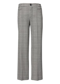 Banana Republic Logan Trouser-Fit Cropped Plaid Pant
