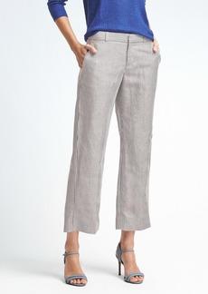Banana Republic Logan-Fit Stripe Linen-Blend Crop Pant