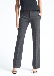 Banana Republic Logan-Fit Windowpane Lightweight Wool Trouser