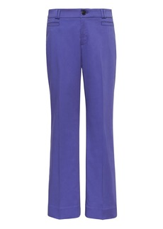 Banana Republic Logan Trouser-Fit Cropped Textured Sateen Pant