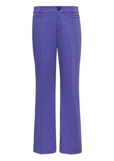 Banana Republic Logan Trouser-Fit Cropped Textured Sateen Pant