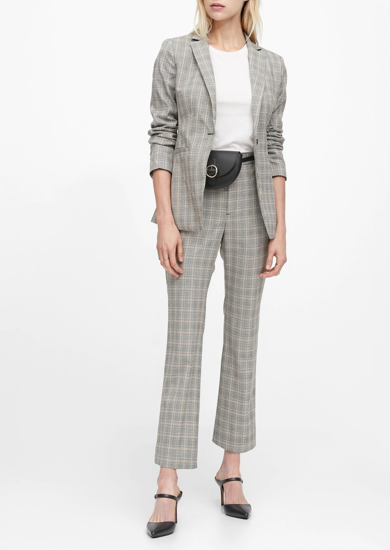 Banana Republic Long and Lean-Fit Plaid Blazer