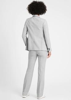 Banana Republic Petite Long and Lean-Fit Washable Wool-Blend Blazer