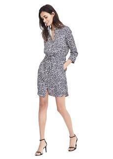 Long-Sleeve Dot-Print Shirt Dress