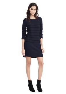 Long-Sleeve Striped Sweater Dress