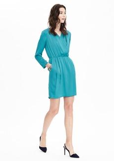 Long-Sleeve Wrap Dress