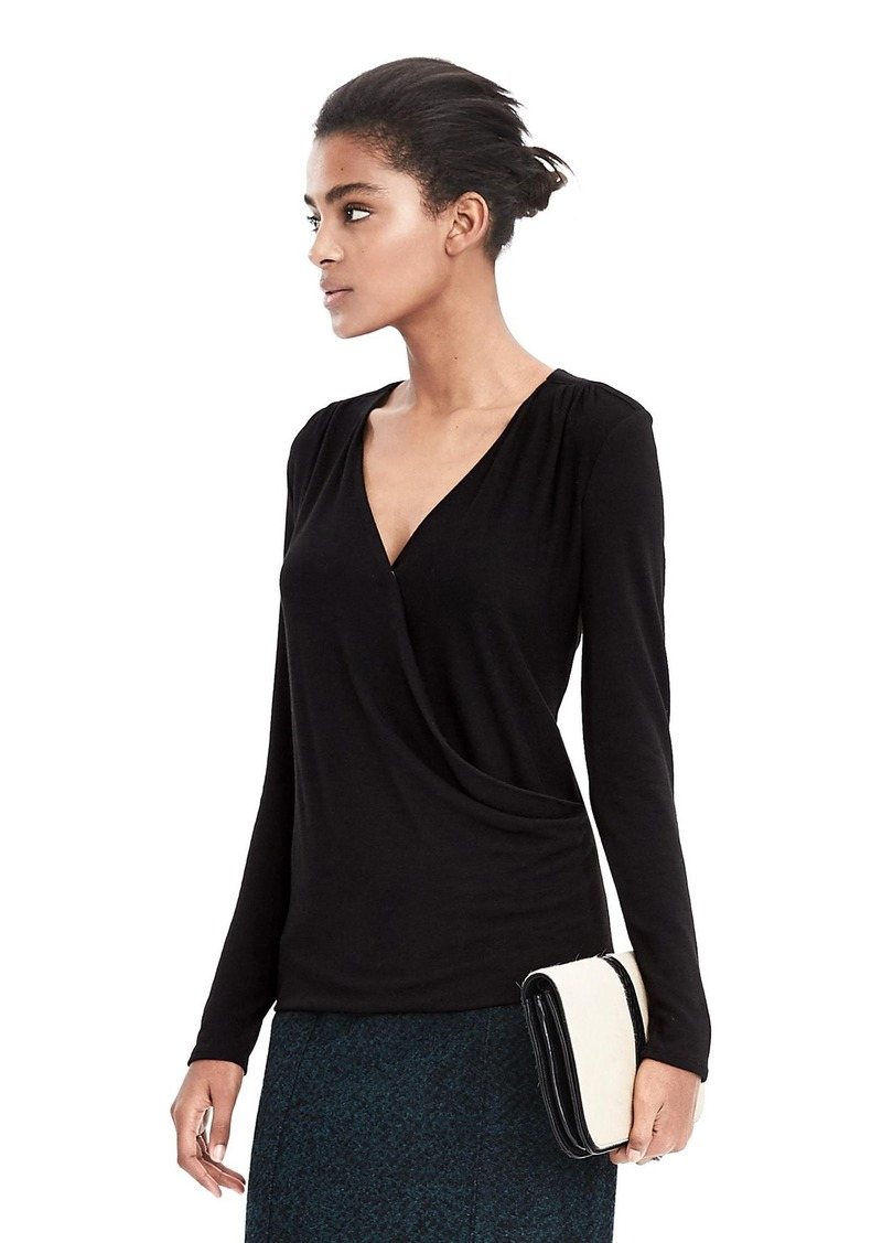 Banana Republic Long Sleeve Wrap Top Now 26 97
