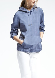 Luxe Brushed Twill Hoodie