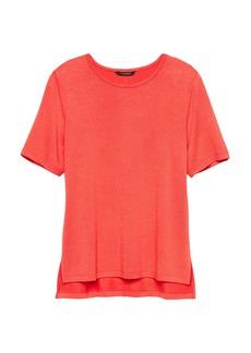 Banana Republic Luxespun Boyfriend T-Shirt with Side Slits