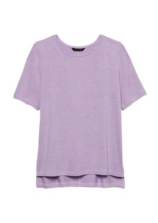 Banana Republic Luxespun Boyfriend T-Shirt with Side Slits