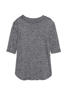 Banana Republic Luxespun Ribbed Crew-Neck T-Shirt